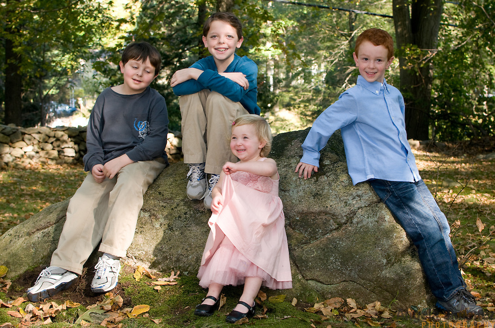 Kim Purcell and family are photographed in Stamford, Connecticut on October 8, 2011. ..Photo by Angela Jimenez .www.angelajimenezphotography.com