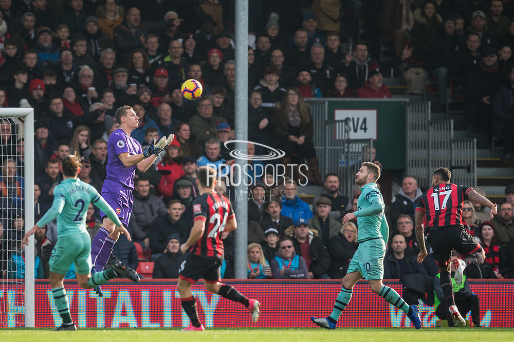 Bernd Leno (GK) (Arsenal) saves a gaol during the Premier League match between Bournemouth and Arsenal at the Vitality Stadium, Bournemouth, England on 25 November 2018.