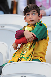 June 16, 2018 - Kazan, Kazan, Russia - Fan of Australia National team duringa  Group C 2018 FIFA World Cup soccer match between France and Australia on June 16, 2018, at the Kazan Arena in Kazan, Russia. (Credit Image: © Anatolij Medved/NurPhoto via ZUMA Press)