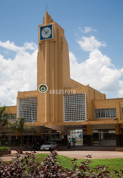 Estacao Ferroviaria de Goiania-GO, uma das edificacoes art-deco da cidade, tombada pelo IPHAN. Arquiteto Geraldo Duarte Passos/ Railway Station in Goiania City.The building is an example of Art Deco architecture in Goiania.