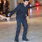 NLD/Utrecht/20121218 - Perspresentatie Sterren Dansen op het IJs 2013, Mimoun Ouled Radi en schaatspartner Kellyn