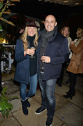 The Ivy Chelsea Garden's Guy Fawkes Party & Launch of The Winter Garden was held on 5th November 2016.<br /> Picture shows:-GEORGINA COHEN and her husband JONATHAN KRON.