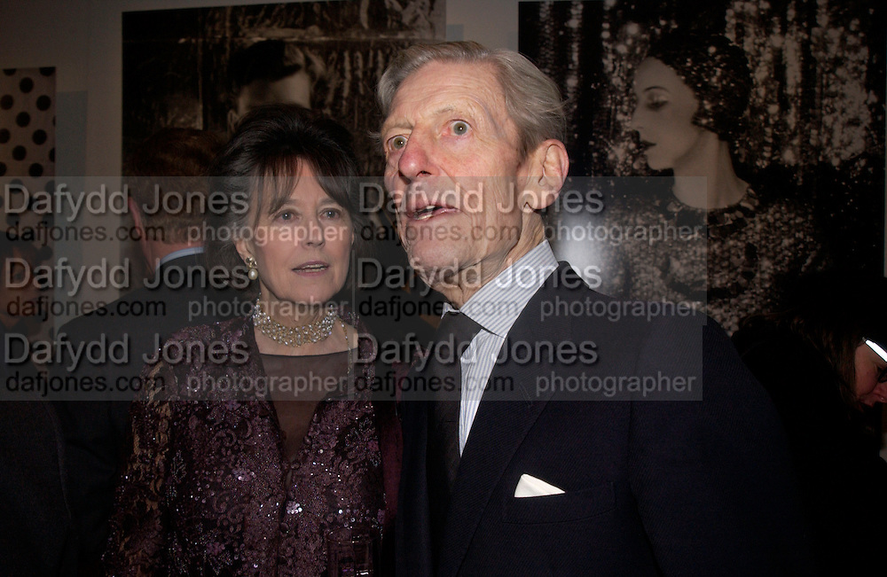 Lady Henrietta Dunne and the hon Angus Ogilvy, Beaton at Large, an exhibition of modern prints from Cecil Beaton's studio archive, Sotheby's. 9 February 2004. © Copyright Photograph by Dafydd Jones 66 Stockwell Park Rd. London SW9 0DA Tel 020 7733 0108 www.dafjones.com