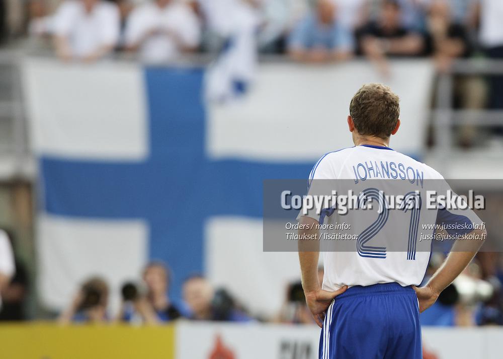 Jonatan Johansson. Suomi ? Belgia, EM-karsinta, Helsinki, Olympiastadion 6.6.2007. Photo: Jussi Eskola