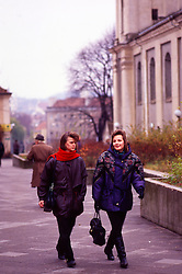 Two young women Walking, Vilnius