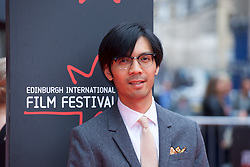 "Baldwin Li, on the red carpet at the Edinburgh International Film Festival world Premier of ""England is Mine"" at Edinburgh's Festival Theatre. Sunday, 2nd July, 2017(c) Brian Anderson 