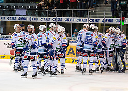 10.03.2019, Keine Sorgen Eisarena, Linz, AUT, EBEL, EHC Liwest Black Wings Linz vs EC VSV, Qualifikationsrunde, 54. Runde, im Bild Saisonende für den EC Panaceo VSV // during the Erste Bank Eishockey League 54th round match between EHC Liwest Black Wings Linz and EC VSV at the Keine Sorgen Eisarena in Linz, Austria on 2019/03/10. EXPA Pictures © 2019, PhotoCredit: EXPA/ Reinhard Eisenbauer