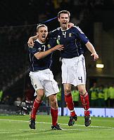 Football - UEFA Euro 2012 Qualifier - Scotland v Liechtenstein<br /> Stephen McManus celebrates his 97th minute goal with Darren Fletcher during the Scotland v Liechtenstein UEFA Euro 2012 Qualifier, Hampden Park