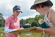 Azahara Munoz (ESP) signs autographs near 18 following her  round 4 of the U.S. Women's Open Championship, Shoal Creek Country Club, at Birmingham, Alabama, USA. 6/3/2018.<br /> Picture: Golffile | Ken Murray<br /> <br /> All photo usage must carry mandatory copyright credit (© Golffile | Ken Murray)