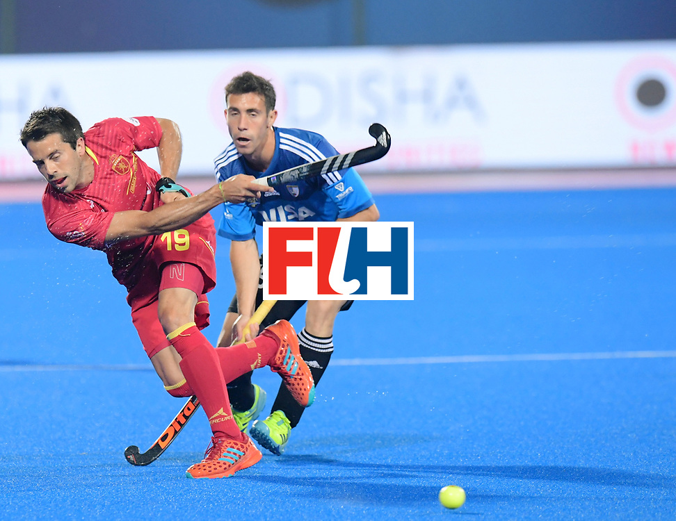 Odisha Men's Hockey World League Final Bhubaneswar 2017<br /> Match id:11<br /> Argentina v Spain<br /> Foto: Marc Salles (Esp) and Diego Paz (Arg) <br /> COPYRIGHT WORLDSPORTPICS FRANK UIJLENBROEK