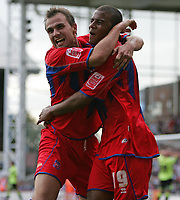 Photo: Lee Earle.<br /> Crystal Palace v Sheffield United. Coca Cola Championship. 22/09/2007. Carl Fletcher (L) celebrates with Tom Soares after scoring the second goal for Palace.
