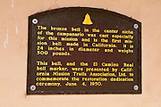 Interpretive plaque, Mission San Antonio de Padua (3rd California Mission - 1771), California