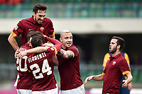 Esultanza gol Francesco Totti con Alessandro Florenzi, Seydou Keita, Davide Astori, Radja Nainggolan, Miralem Pjanic <br /> Verona 22-02-2015 Stadio Bentegodi Football Calcio Serie A Hellas Verona - Roma. Foto Andrea Staccioli / Insidefoto<br /> Fiorentina captain Davide Astori dies suddenly aged 31 . <br /> Astori was staying a hotel with his team-mates ahead of their game on Sunday away at Udinese when he passed away. <br /> Foto Insidefoto