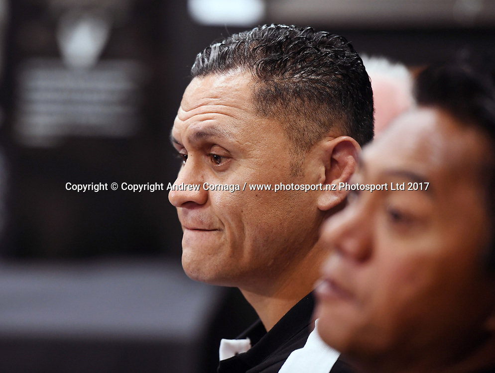 New Zealand Kiwis coach David Kidwell during a Rugby League World Cup press conference to annouunce the NZ Kiwis squad for the RLWC 2017. Auckland, New Zealand. Thursday 5 October 2017 © Copyright Photo: Andrew Cornaga / www.Photosport.nz