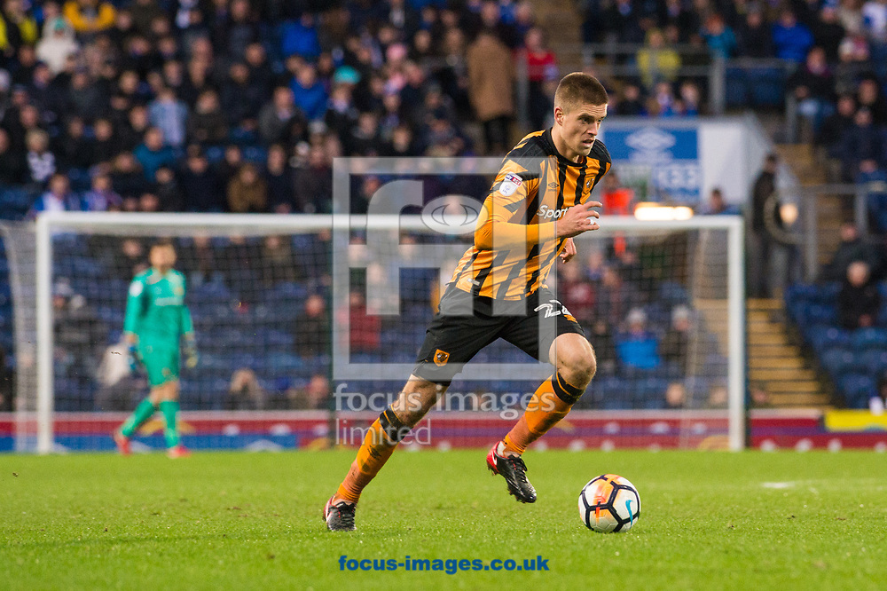 Markus Henriksen of Hull City pushes forward during the FA Cup match at Ewood Park, Blackburn<br /> Picture by Matt Wilkinson/Focus Images Ltd 07814 960751<br /> 06/01/2018
