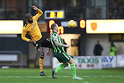 Barry Fuller (Captain) of AFC Wimbledon during the Sky Bet League 2 match between Newport County and AFC Wimbledon at Rodney Parade, Newport, Wales on 19 December 2015. Photo by Stuart Butcher.