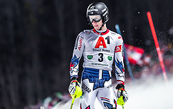 "29.01.2019, Planai, Schladming, AUT, FIS Weltcup Ski Alpin, Slalom, Herren, 1. Lauf, im Bild Clement Noel (FRA) // Clement Noel of France DNF his 1st run of men's Slalom ""the Nightrace"" of FIS ski alpine world cup at the Planai in Schladming, Austria on 2019/01/29. EXPA Pictures © 2019, PhotoCredit: EXPA/ JFK"