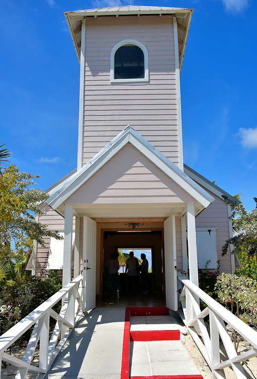Bahamian Church at Half Moon Cay, Bahamas <br />