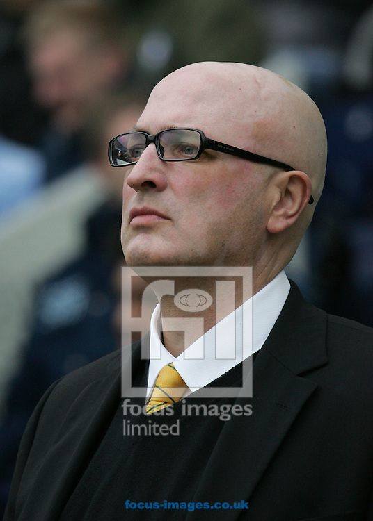Preston - Saturday February 14th, 2009: Bryan Gunn, manager of Norwich City during the game against Preston North End in the Coca Cola Championship match at Deepdale, Preston. (Pic by Michael Sedgwick/Focus Images)