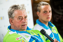 Darko, father and coach and his son Marino Kegl at Media day of the Deaf tennis player Marino Kegl, organised by ZSIS - POK, on June 29, 2017 in Murska Sobota, Slovenia. Photo by Vid Ponikvar / Sportida