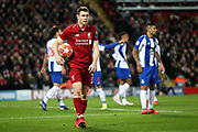 Liverpool midfielder James Milner (7) during the Champions League Quarter-Final Leg 1 of 2 match between Liverpool and FC Porto at Anfield, Liverpool, England on 9 April 2019.