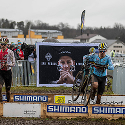 20190201: UCI CX Worlds : Dübendorf: Close fight between local hero Dario Lillo and Thibau Nys