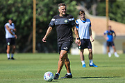 Forest Green Rovers manager, Mark Cooper during the Forest Green Rovers Training session at Browns Sport and Leisure Club, Vilamoura, Portugal on 24 July 2017. Photo by Shane Healey.