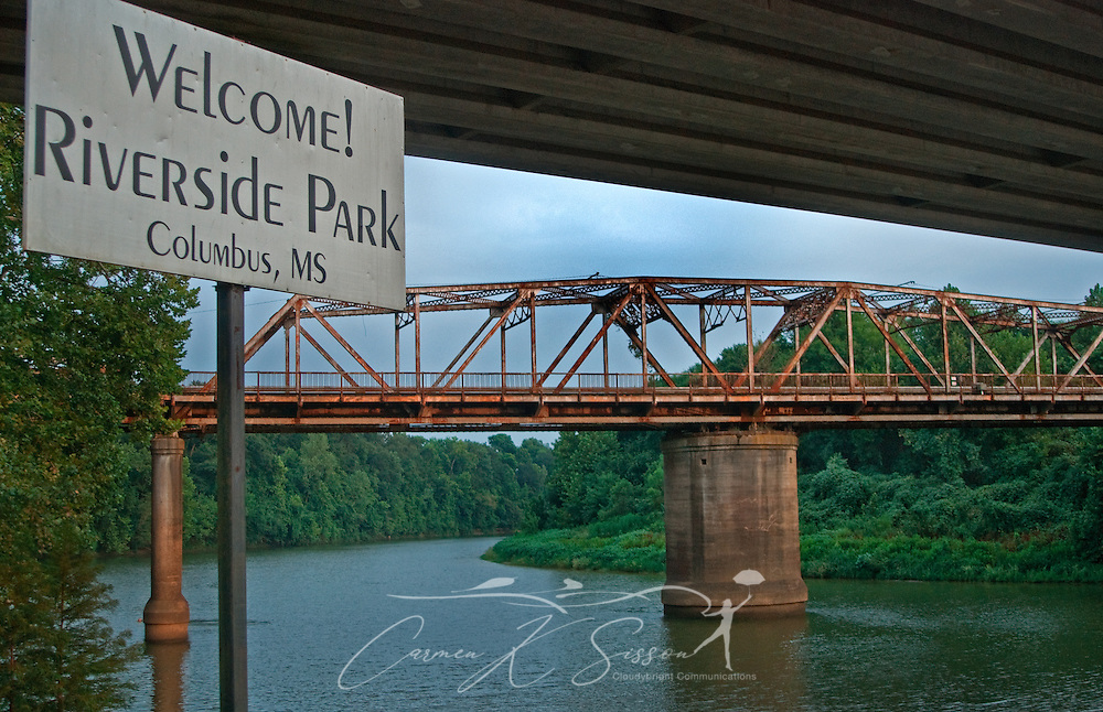 The old Hwy. 82 trestle bridge is pictured at Riverside Park in Columbus, Miss. Aug. 15, 2010. Plans are currently underway to restore the bridge, which spans the Tennessee-Tombigbee Waterway, and turn it into a pedestrian walkway. (Photo by Carmen K. Sisson/Cloudybright)
