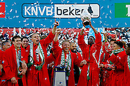 24-04-2016 VOETBAL: KNVB BEKERFINALE FEYENOORD-FC UTRECHT: ROTTERDAM <br /> <br /> Dirk Kuyt van Feyenoord met de KNVB beker <br /> <br /> foto: Geert van Erven