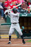 Orlando Calixte (2) of the Northwest Arkansas Naturals at bat during a game against the Springfield Cardinals at Hammons Field on July 28, 2013 in Springfield, Missouri. (David Welker)