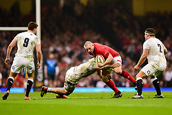 Ken Owens of Wales is tackled - Mandatory by-line: Ryan Hiscott/JMP - 23/02/2019 - RUGBY - Principality Stadium - Cardiff, Wales - Wales v England - Guinness Six Nations