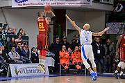 DESCRIZIONE : Eurocup Last 32 Group N Dinamo Banco di Sardegna Sassari - Galatasaray Odeabank Istanbul<br /> GIOCATORE : Goksenin Koksal<br /> CATEGORIA : Tiro Tre Punti Three Point Controcampo Ritardo<br /> SQUADRA : Galatasaray Odeabank Istanbul<br /> EVENTO : Eurocup 2015-2016 Last 32<br /> GARA : Dinamo Banco di Sardegna Sassari - Galatasaray Odeabank Istanbul<br /> DATA : 13/01/2016<br /> SPORT : Pallacanestro <br /> AUTORE : Agenzia Ciamillo-Castoria/L.Canu