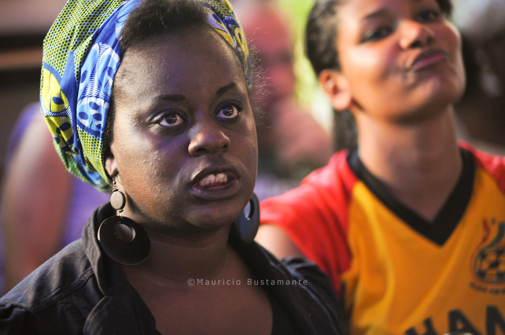 Ghana vs Germany.  Fans at  Tropical Point  Hamburg,