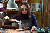 Elena Rosso Artist Glass maker in Murano Venice