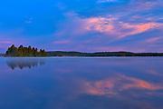CLoud reflection in Lac des Sables<br />Belleterre<br />Quebec<br />Canada