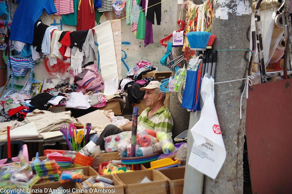 A market seller in Tirana.