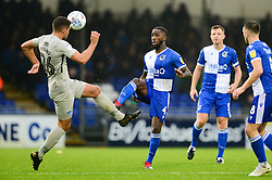 Abu Ogogo of Bristol Rovers is closed down by Gareth Evans of Portsmouth - Mandatory by-line: Dougie Allward/JMP - 26/10/2019 - RUGBY - Sixways Stadium - Worcester, England - Worcester Warriors v Leicester Tigers - Gallagher Premiership Rugby