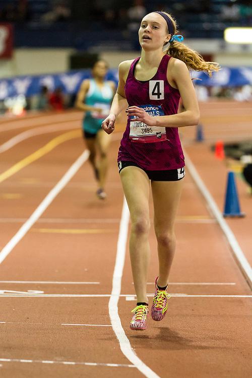 NSAF 2014 New Balance Nationals Indoor, girls Mile, Kennedy Weisner