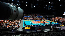 10-08-2019 NED: FIVB Tokyo Volleyball Qualification 2019 / Belgium - Netherlands, Rotterdam<br /> Third match pool B in hall Ahoy between Belgium vs. Netherlands (0-3) for one Olympic ticket / Centercourt Ahoy, Sony