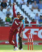 Ashley Nurse of the West Indies during the 2015 KFC T20 International game between South Africa and the West Indies at Newlands Cricket Ground, Cape Town on 9 January 2015 ©Ryan Wilkisky/BackpagePix