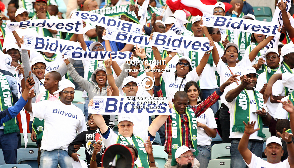 DURBAN, SOUTH AFRICA - MAY 17: General views during the Nedbank Cup final match between Bidvest Wits and Orlando Pirates at Moses Mabhida Stadium on May 17, 2014 in Durban, South Africa. (Photo by Steve Haag/Gallo Images)