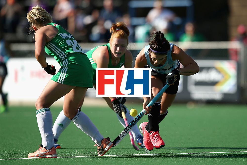 JOHANNESBURG, SOUTH AFRICA - JULY 18: Maria Granatto of Argentina in action during the Quarter Final match between Argentina and Ireland during the FIH Hockey World League - Women's Semi Finals on July 18, 2017 in Johannesburg, South Africa.  (Photo by Jan Kruger/Getty Images for FIH)
