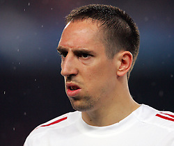A dejected Franck Ribery during the UEFA Champions League quarter final first leg match between FC Barcelona and FC Bayern Munich at the Camp Nou stadium on April 8, 2009 in Barcelona, Spain.