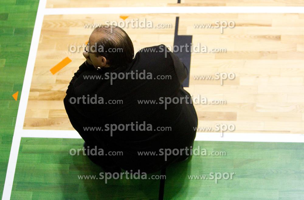 Head coach of Krka Aleksandar Dzikic during basketball match between KK Krka (SLO) and Union Olimpija (SLO) in 16th Round of NLB Adriatic League, on January 11, 2011 in Arena Leona Stuklja, Novo mesto, Slovenia. (Photo By Vid Ponikvar / Sportida.com)