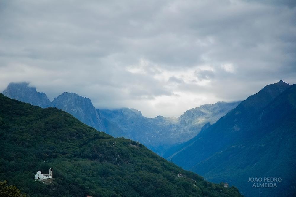 Small church in the Italian Alps
