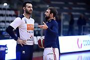 Sacchetti Brian Poeta Giuseppe<br /> Grissin Bon Reggio Emilia - Germani Basket Brescia<br /> Lega Basket Serie A 2019/2020<br /> Reggio Emilia, 11/01/2020<br /> Foto A.Giberti / Ciamillo - Castoria