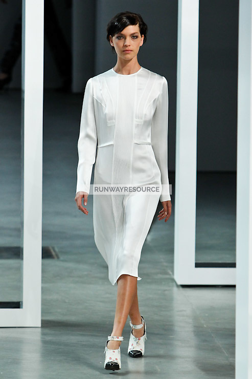 Arizona Muse walks down runway for F2012 Derek Lam's collection in Mercedes Benz fashion week in New York on Feb 10, 2012 NYC