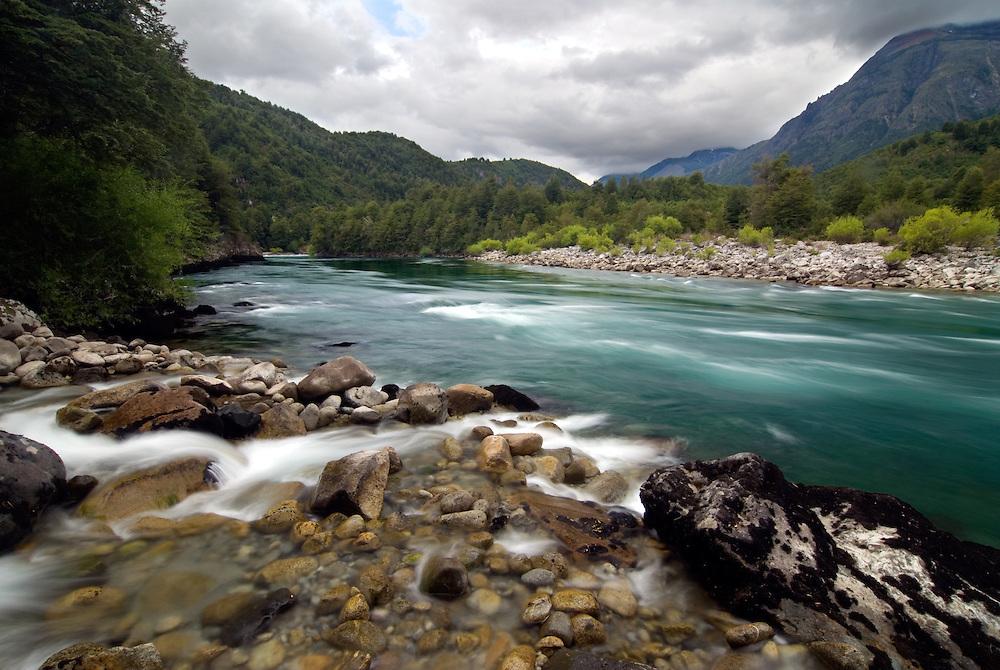Stream flowing into Chile's Futaleufu River.