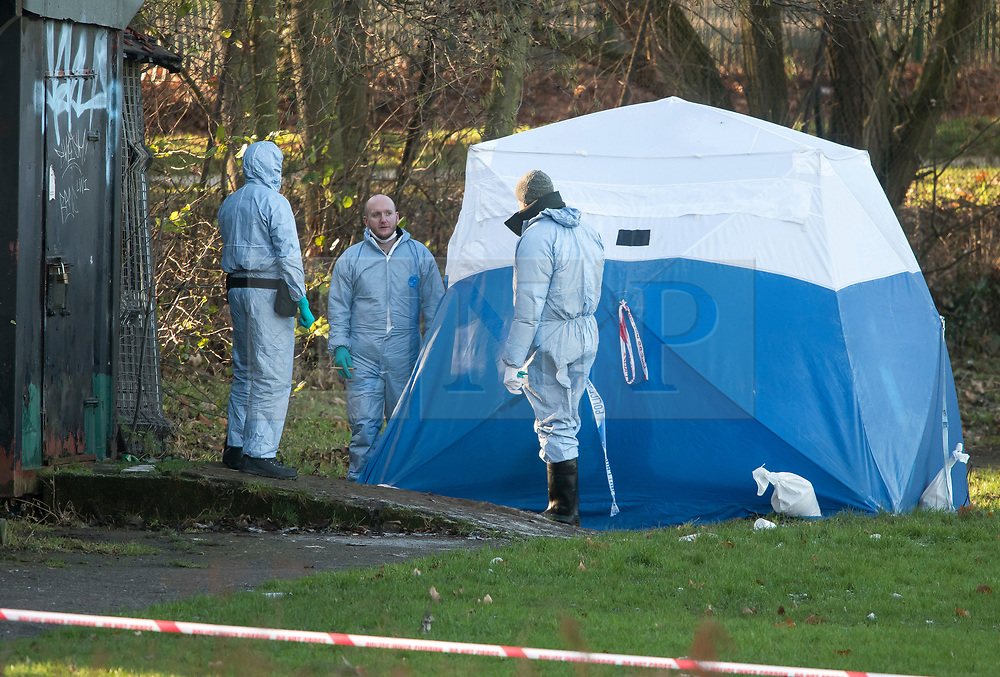 FILE PICTURE © Licensed to London News Pictures. 28/12/2017. London, UK. Police forensics at the scene in Finsbury Park where the body of a young woman was found on Boxing Day. A member of the public found the body of the woman, thought to be in her 20s, near the sports area in the centre of the park. Photo credit: Ben Cawthra/LNP