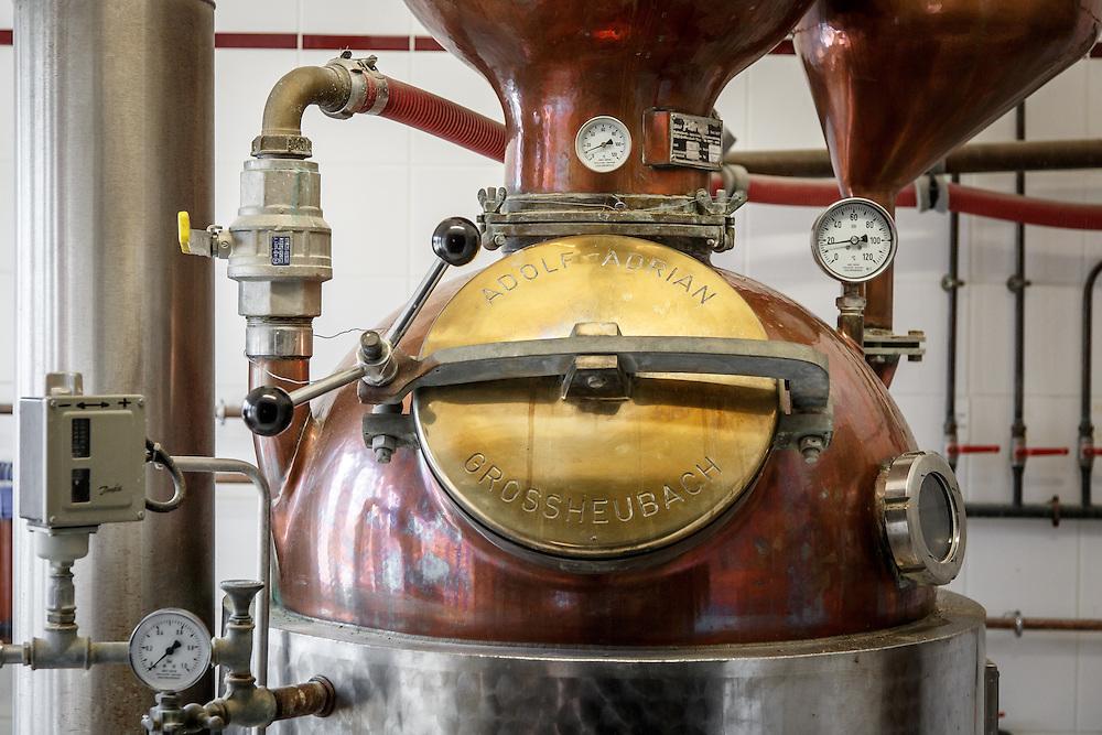 The stills at Distillerie Guillon in Louvois, France, January 24, 2015. Gary He/DRAMBOX MEDIA LIBRARY